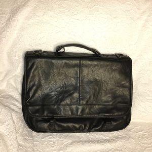 Other - Vegan Leather Expandable Briefcase /Laptop Bag
